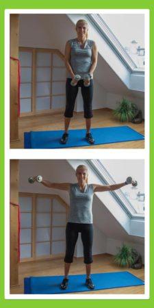 Übungen für den Rücken: Seitheben