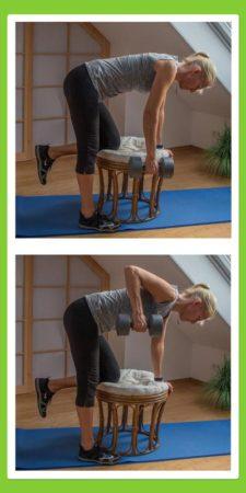 Übungen für den Rücken: Rudern im Stehen