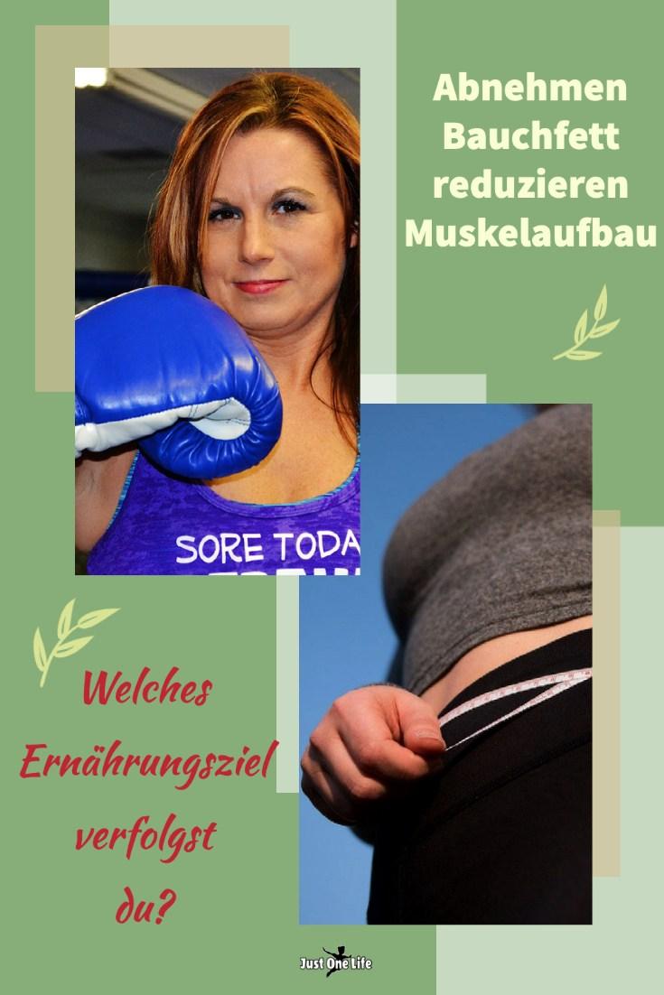 Abnehmen, Bauchfett reduzieren oder Muskelaufbau - welches Ziel verfolgst du?