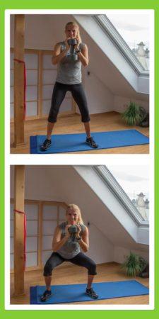 Übungen für den Rücken: Hockbeuge / Squad