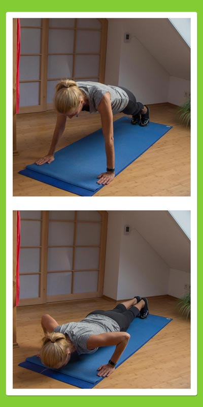Übungen für den Rücken: Liegestütze
