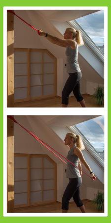 Übungen für den Rücken: Rückenzug abwärts