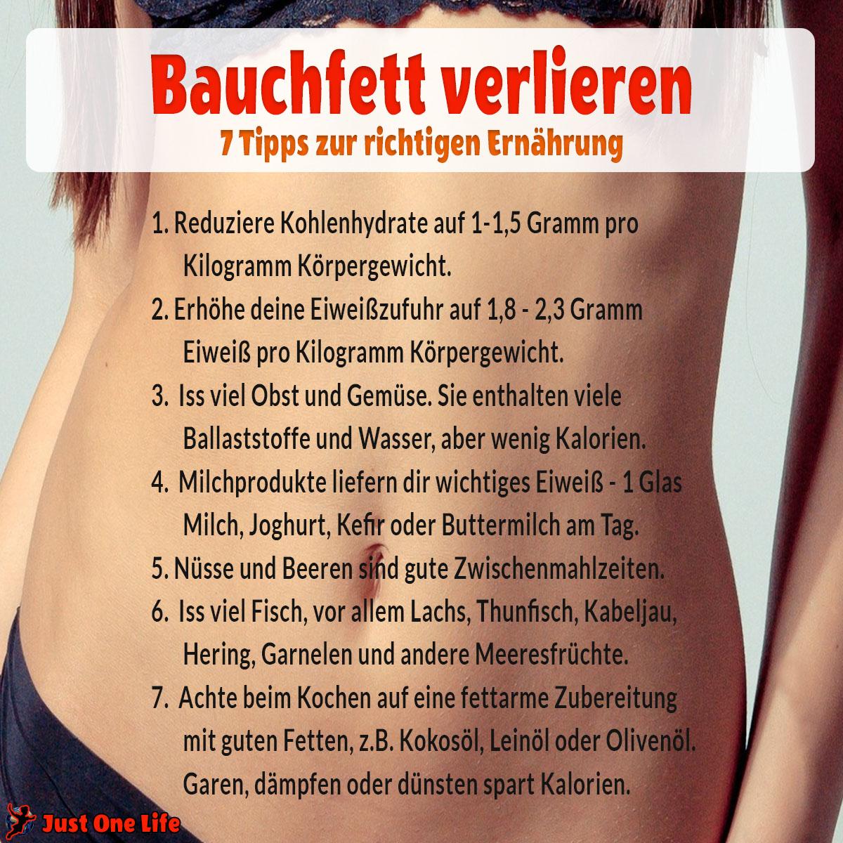 Bauchfett verlieren - 10 Tipps