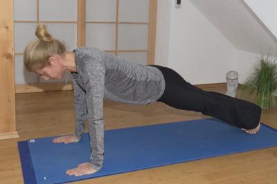 Yoga Übung: Brett
