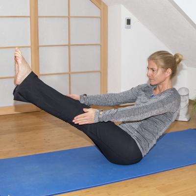 Yoga zum Abnehmen: Boot