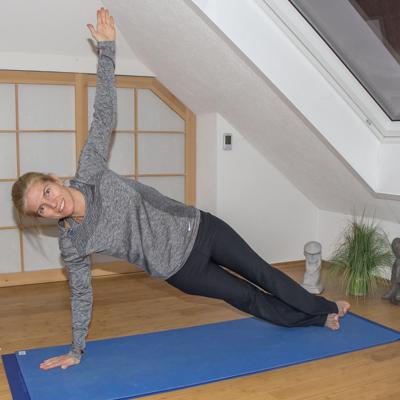 Yoga zum Abnehmen: Seitstütz