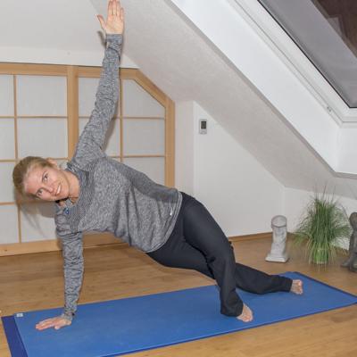 Yoga zum Abnehmen: Seitstütz (Alternative)