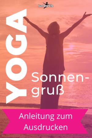 Yoga Sonnengruß - Anleitung zum Ausdrucken für Anfänger