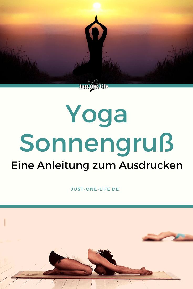 Yoga Sonnengruß - eine Anleitung (zum Ausdrucken) für Yoga Anfänger
