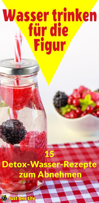 Wasser trinken für die Figur - 15 Detox-Wasser-Rezepte zum Abnehmen