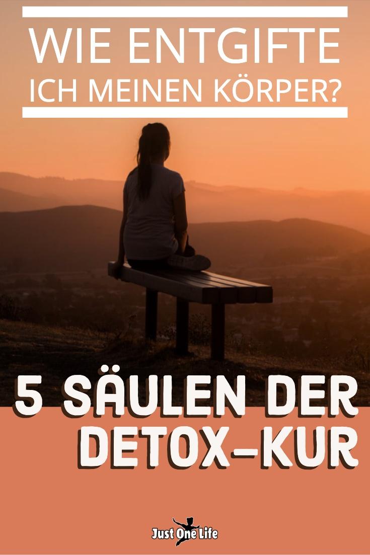 Wie entgifte ich meinen Körper - 5 Säulen der Detox-Kur