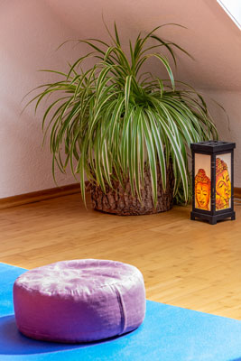 Meditationsraum mit Pflanze
