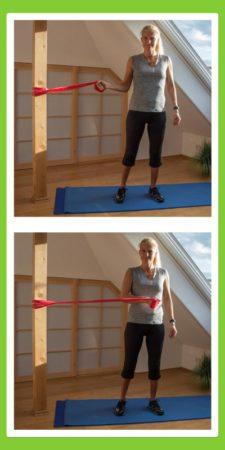 Übungen für den Rücken: Innenrotation