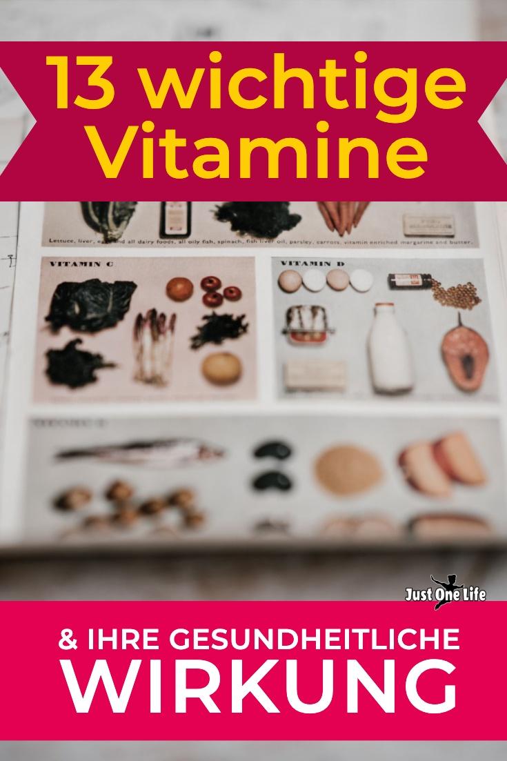 13 wichtige Vitamine & ihre gesundheitliche Wirkung