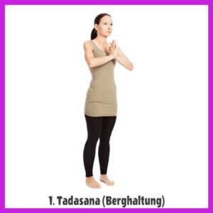 Yoga Sonnengruß - Tadasana / Berghaltung