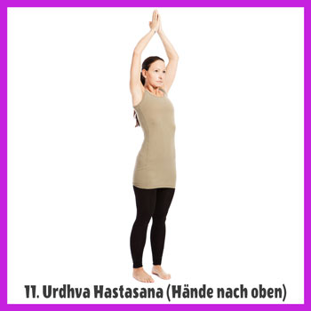 Yoga Sonnengruß - Urdhva Hastasana / Haende nach oben 2