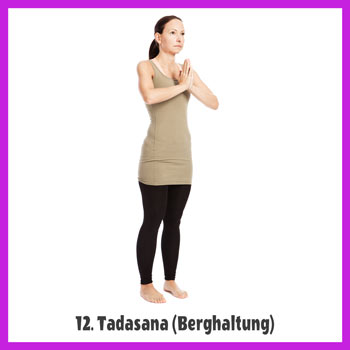 Yoga Sonnengruß - Tadasana / Berghaltung 2