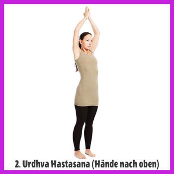 Yoga Sonnengruß - Urdhva Hastasana / Haende nach oben
