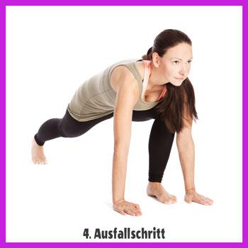 Yoga Sonnengruß - Ausfallschritt