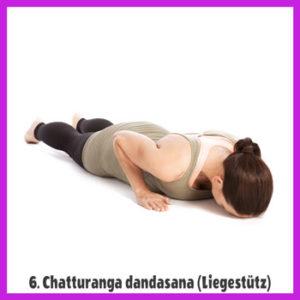 Yoga Sonnengruß - Chatturanga dandasana / Liegestuetz