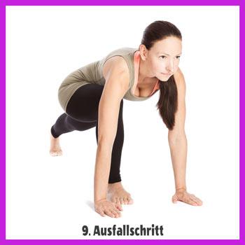 Yoga Sonnengruß - Ausfallschritt 2