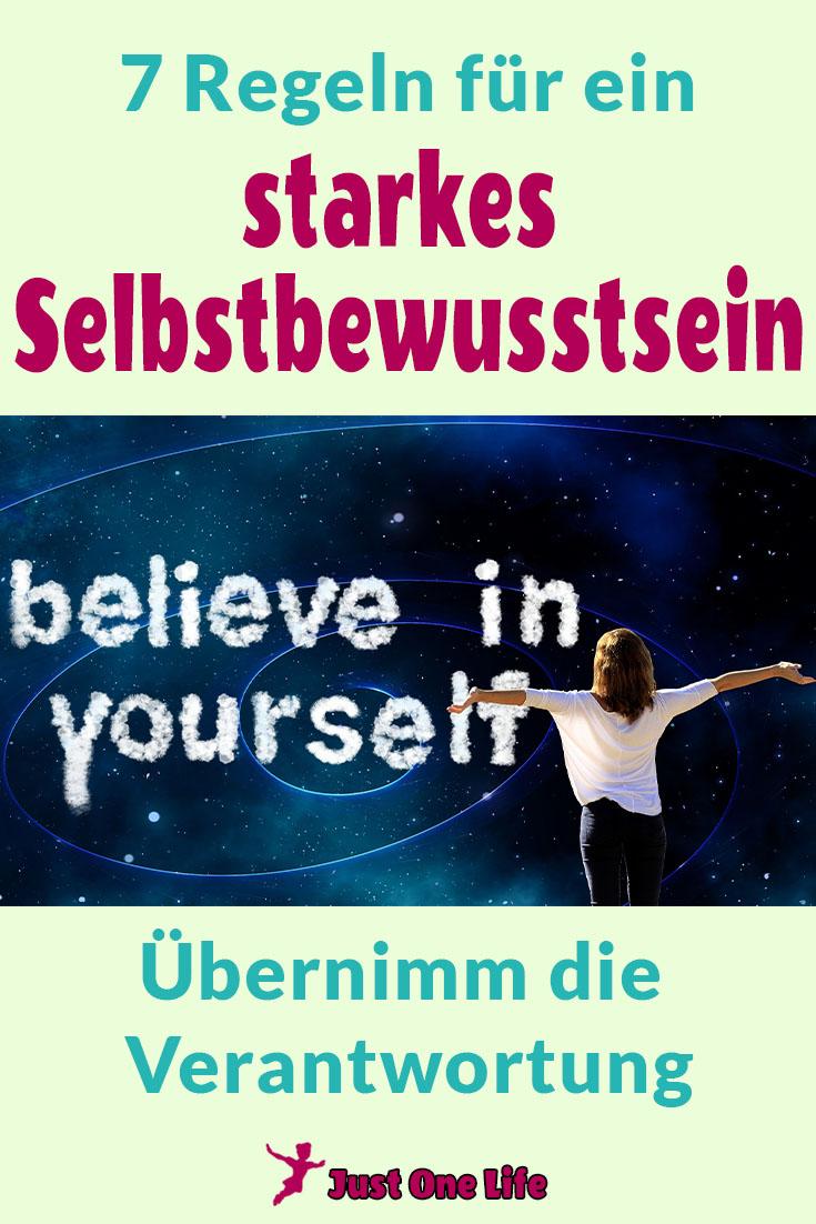 7 Regeln für ein starkes Selbstbewusstsein - übernimm die Verantwortung