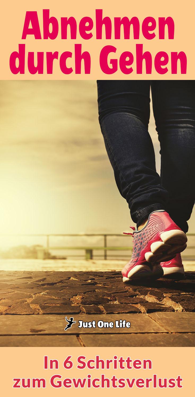 Abnehmen durch Gehen - Gewichtsverlust in 6 Schritten