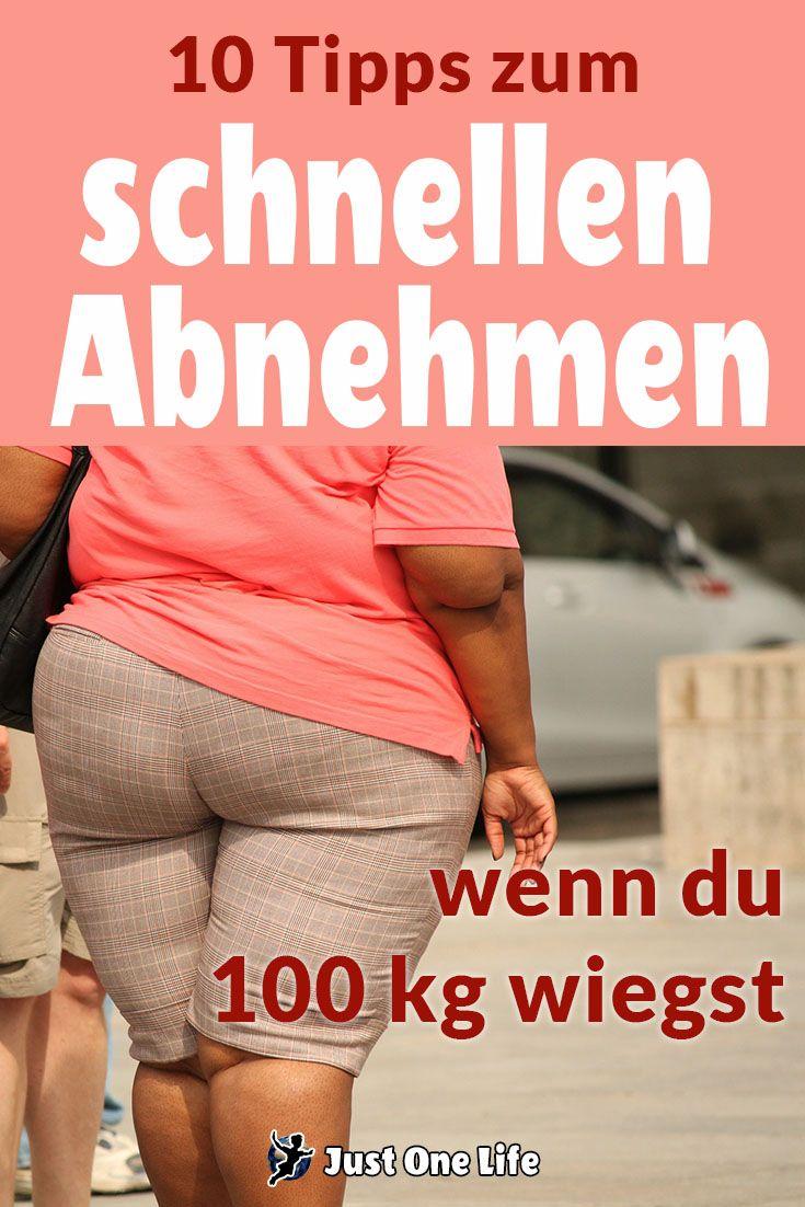 schnell abnehmen für frauen mit 100 kg