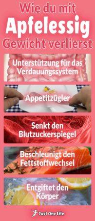 Gewicht verlieren mit Apfelessig - Infografik