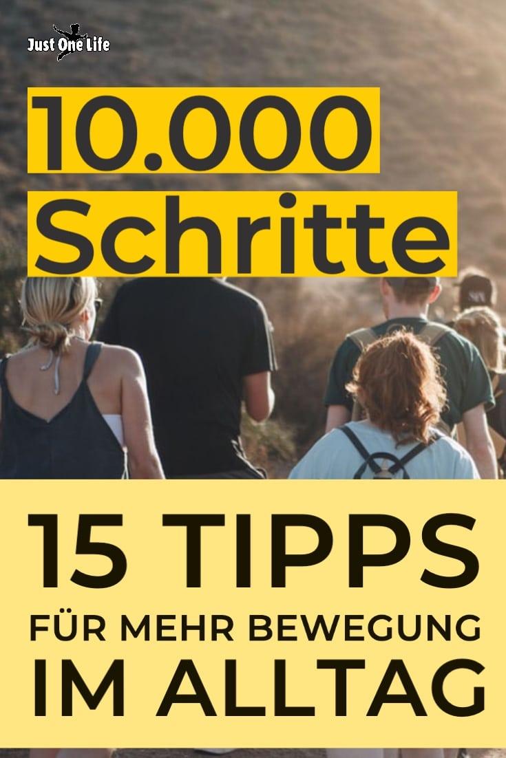 10.000 Schritte - 15 Tipps  für mehr Bewegung  im Alltag