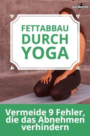 Fettabbau durch Yoga - Fehler