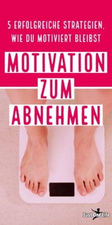 Motivation zum Abnehmen - bleibe motiviert mit diesen 5 Strategien