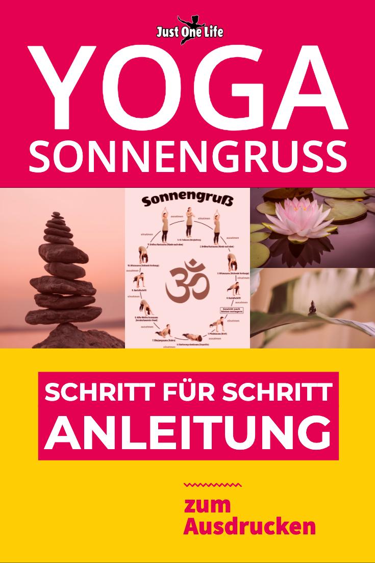 Yoga Sonnengruß – eine Anleitung (zum Ausdrucken) für Yoga Anfänger