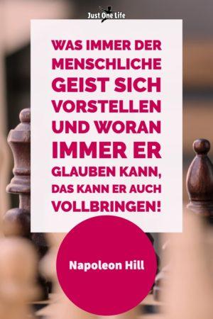 inspirierendes Zitat von Napoleon Hill über das Erreichen von Zielen