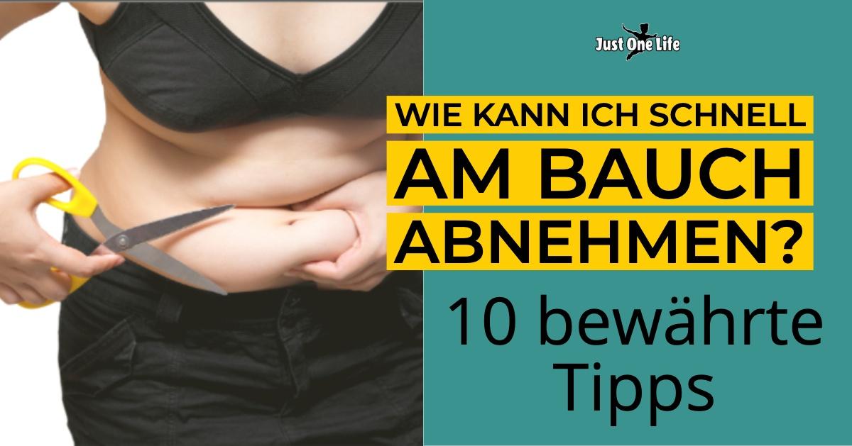 Wie man schnell vom Bauch abnehmen kann
