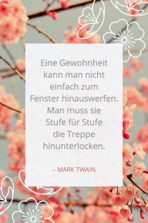 Zitat über Gewohnheiten - Mark Twain