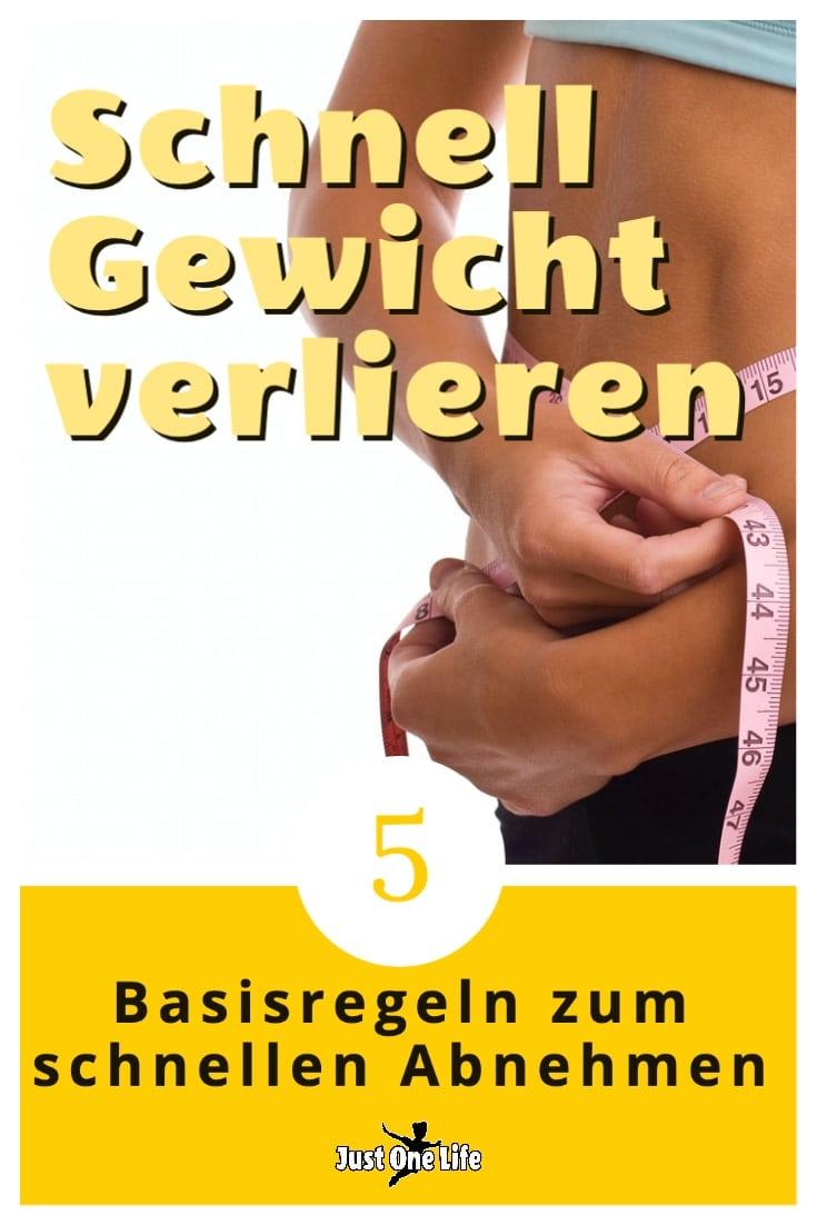 Schnell Gewicht verlieren - 5 entscheidende Schritte zum schnellen Abnehmen