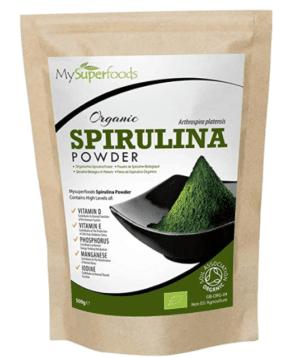 Spirulina-Pulver mit vielen Nährstoffen