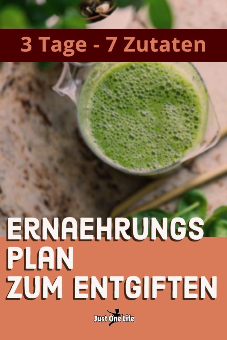 Ernährungsplan zum Entgiften: 3 Tage - 7 Zutaten