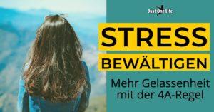 Stress bewältigen - 4A-Regel