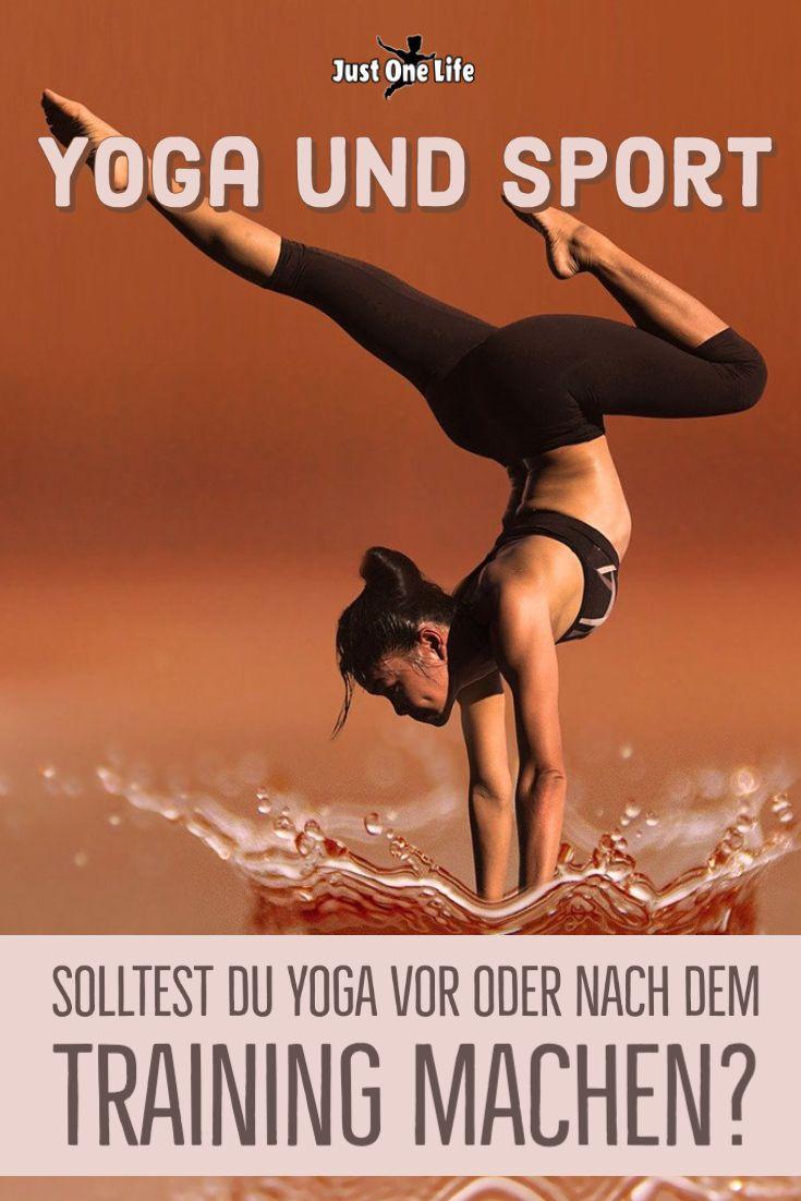 Yoga und Sport: Solltest du Yoga vor oder nach dem Training machen?